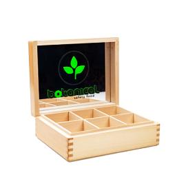 Cutie de lemn pentru 6 feluri de ceai Botanical