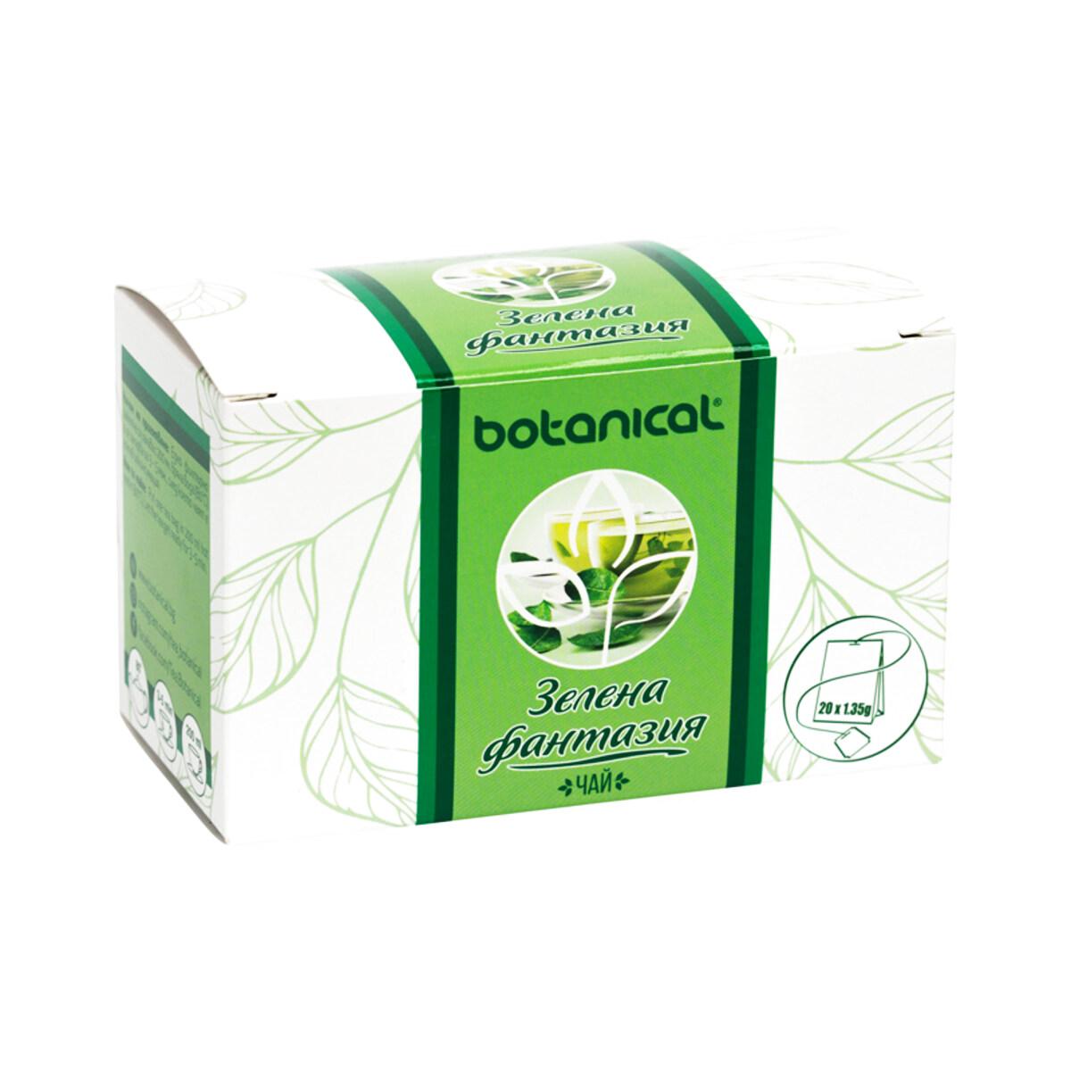 Seria Botanical Fantezie verde  ceai la plicuri